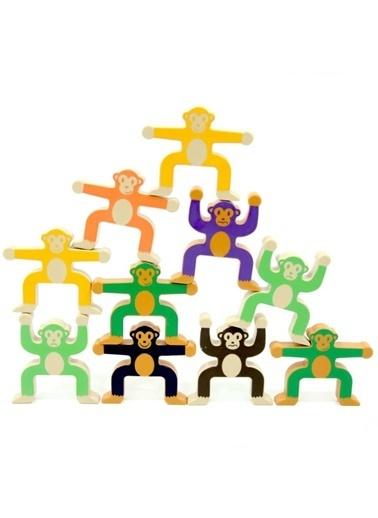 Birlik Oyuncak Birlik Oyuncak 92915 16 Adet Eğlenceli Renkli Maymun Kulesi Oyunu Renkli